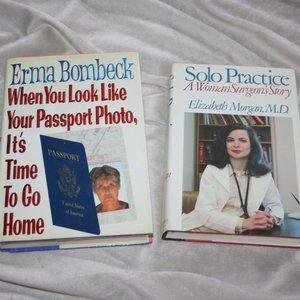 Vintage book lot Erma Bombeck Elizabeth Morgan, MD